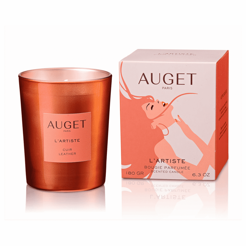 L'ARTISTE - Bougie parfumée - PACKSHOOT - Fragrance Cuir