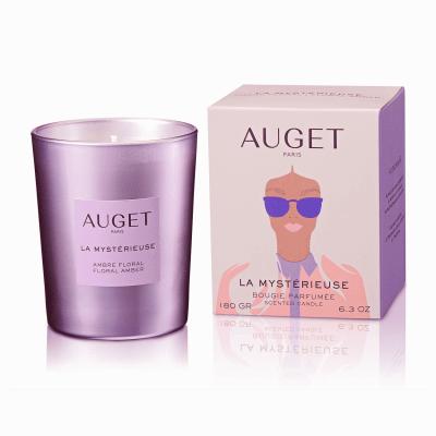 La MYSTERIEUSE - Bougie parfumée - PACKSHOT - Fragrance Ambre Floral