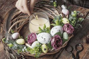Une bougie parfumée pour Pâques